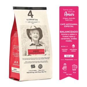 4 Elementos Café Artesanal Especial Amor
